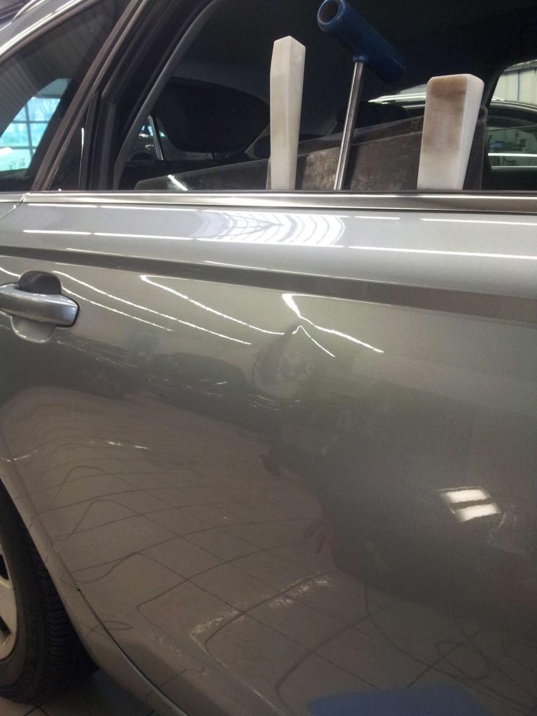 Choc porte Alu sur Audi A6